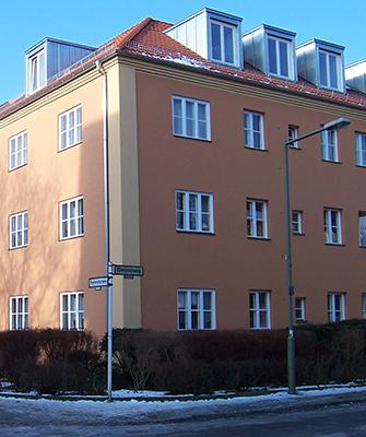 Fassadenfarbe modern  gebundene Fassadenfarben als Schutz