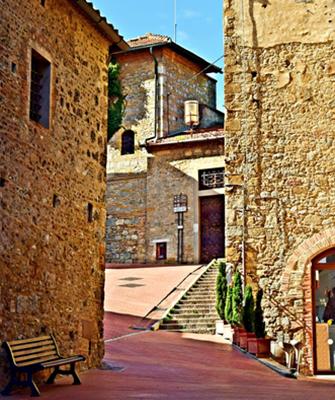 Erdiges Rot, die Farbe der Toskana