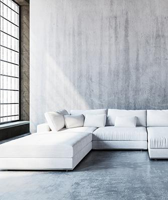 Beton – Wandgestaltung