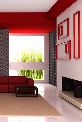 Frische Wandfarbe streichelt die Seele